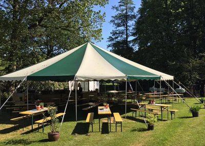 Catering in een tent van Hotel-Restaurant Bakker in Vorden