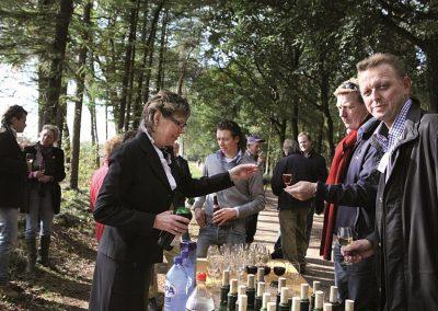Catering in het bos van Hotel-Restaurant Bakker in Vorden