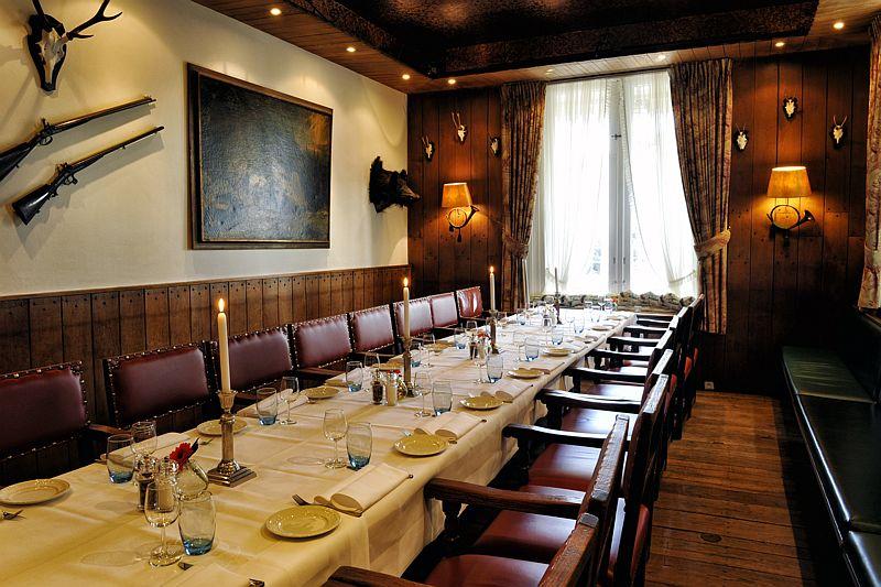 De jachtzaal van Hotel-Restaurant Bakker in Vorden