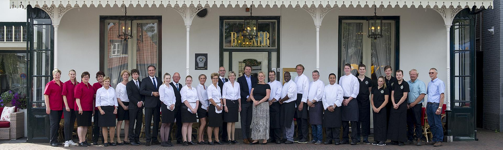 The staff of Hotel Restaurant Bakker in Vorden