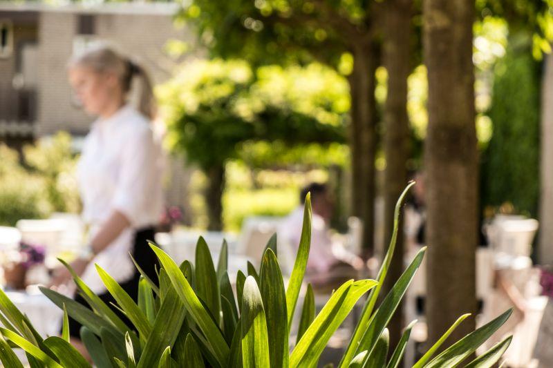 Tuin van Hotel Restaurant Bakker in Vorden