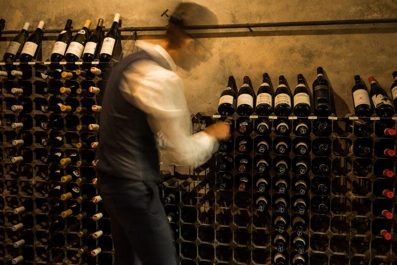 De wijnkelder van Hotel-Restaurant Bakker Vorden